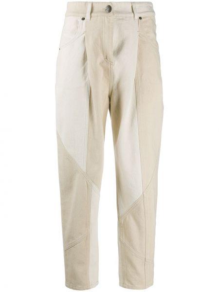 С завышенной талией хлопковые брюки на молнии 8pm