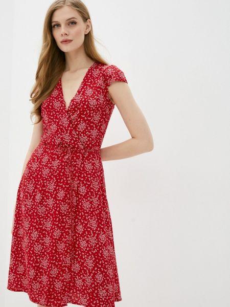 Платье с запахом красный Zarina
