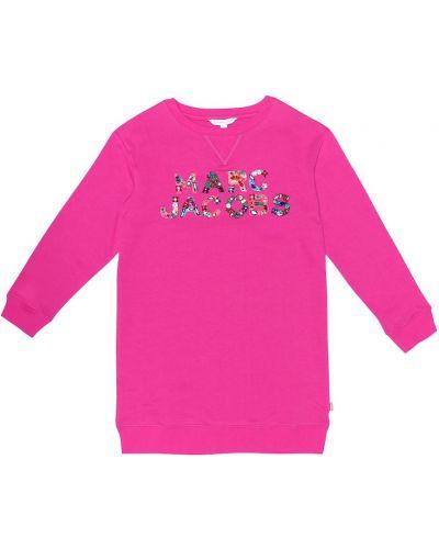 Платье розовое с завышенной талией Little Marc Jacobs