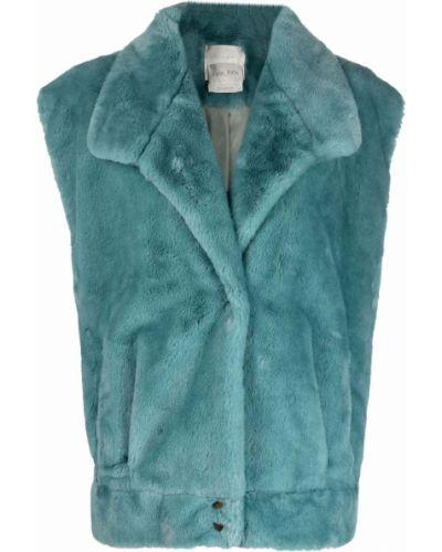 Синяя куртка из полиэстера Forte Forte