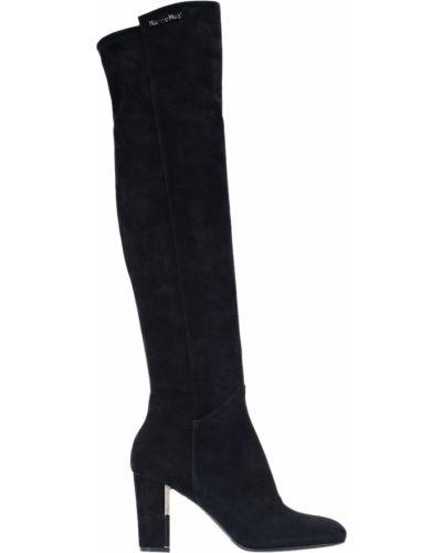 Ботфорты на каблуке кожаные замшевые Nando Muzi