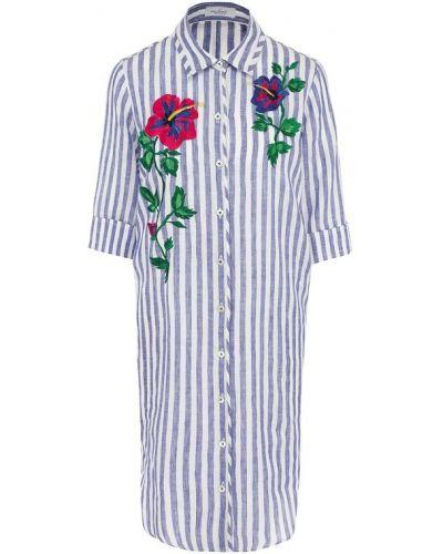 Платье миди рубашка с цветочным принтом прямое Van Laack