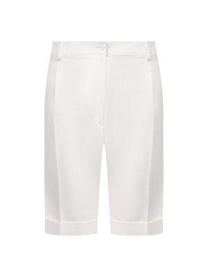 Повседневные белые кожаные шорты Kiton