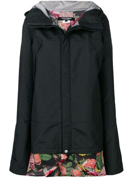 Нейлоновая черная куртка с капюшоном двусторонняя Junya Watanabe
