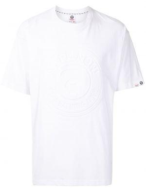Biała T-shirt z nadrukiem bawełniana Aape By A Bathing Ape