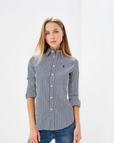 Синяя рубашка с длинным рукавом Polo Ralph Lauren