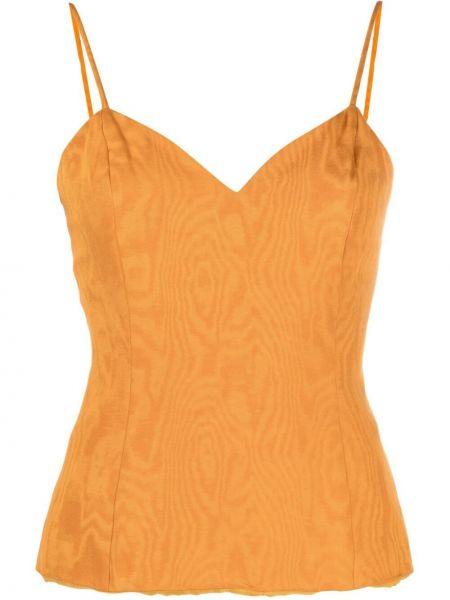 Pomarańczowy top bawełniany Christian Dior