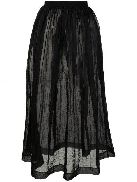 С завышенной талией прямая черная юбка миди Uma Wang