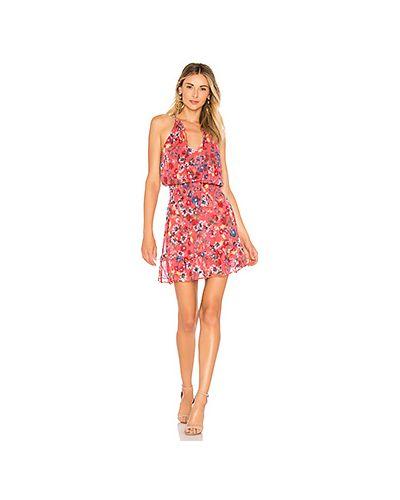Платье с поясом с декольте со складками Parker