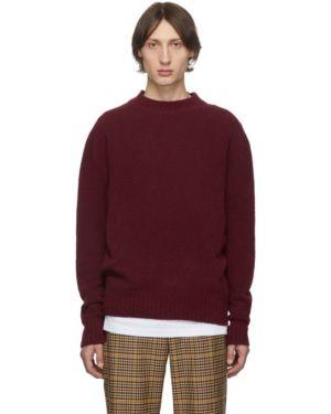 Красный шерстяной свитер с воротником с манжетами Schnaydermans