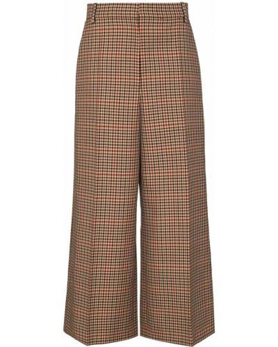 Wełniany brązowy spodnie culotte Joseph