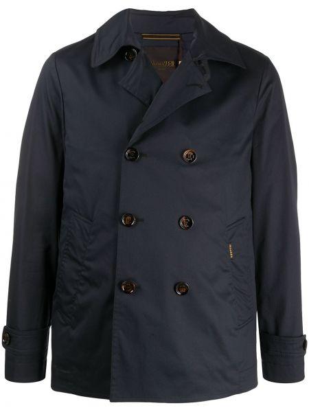 Długa kurtka niebieska światło Moorer