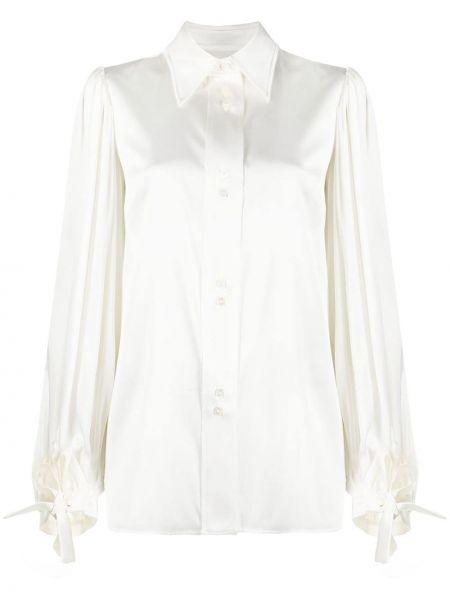 Klasyczna biała klasyczna koszula z długimi rękawami Ellery