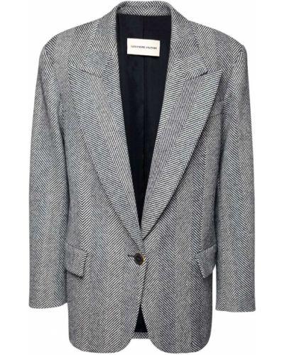 Шерстяной черный пиджак с карманами Alexandre Vauthier