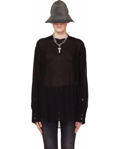 Блузка черная на пуговицах Ann Demeulemeester