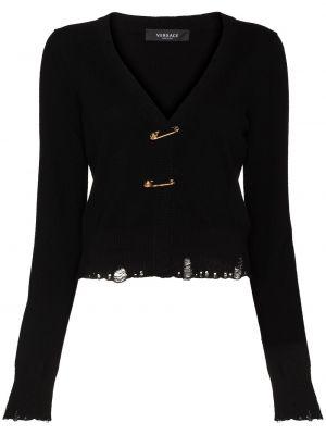 Черная кардиган длинная Versace