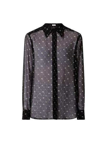 Czarna bluzka z jedwabiu Riani