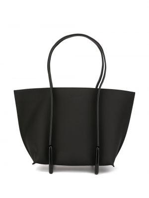 Кожаная черная сумка-тоут на молнии с карманами Discord Yohji Yamamoto