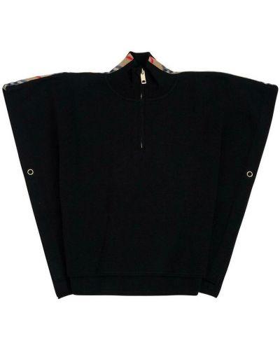Ponczo wełniany - czarny Burberry