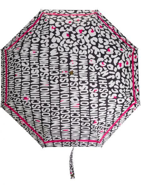 Зонт с логотипом черный Moschino