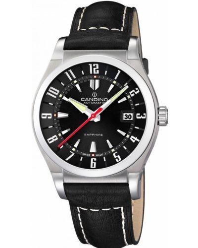 Часы водонепроницаемые механические с кожаным ремешком Candino