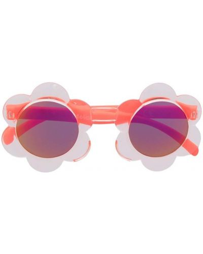 Оранжевые солнцезащитные очки с опушкой Molo Kids