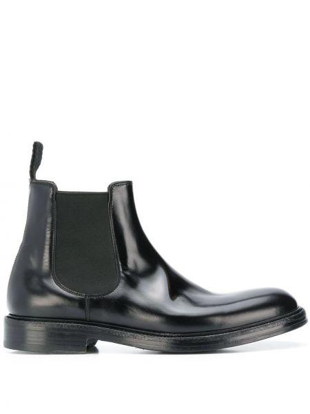 Черные кожаные ботинки Green George