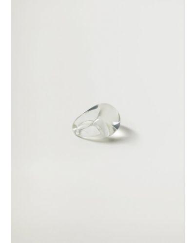 Biały pierścionek Mango