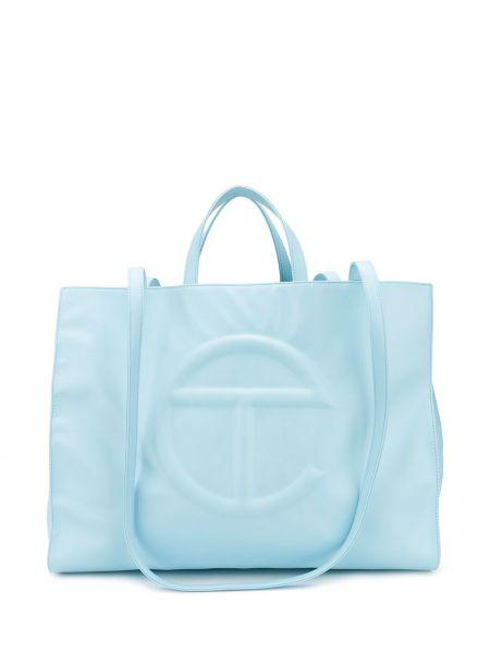 Niebieska torebka skórzana oversize Telfar