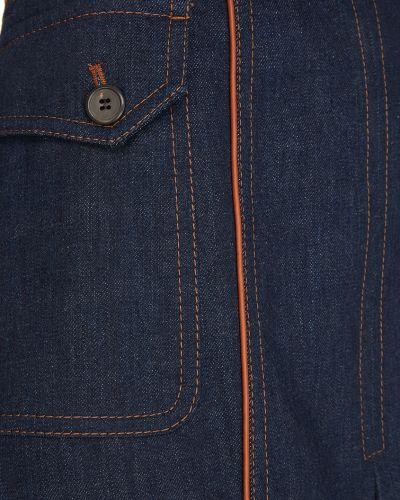 Юбка миди джинсовая юбка-колокол Prada