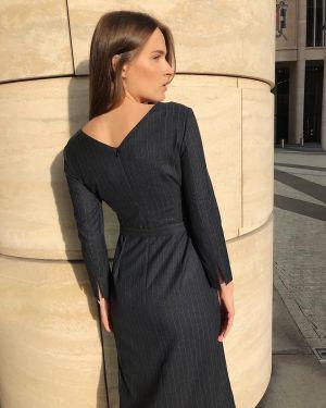 Платье макси в полоску повседневное Emka