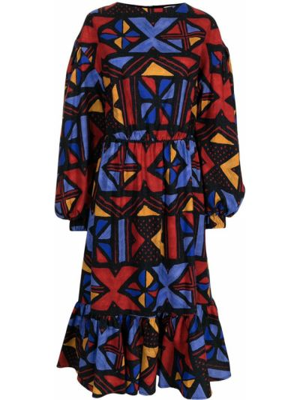 Платье макси с длинными рукавами Stella Jean