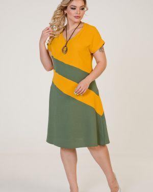Платье с V-образным вырезом марита