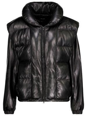Кожаная куртка - черная Isabel Marant
