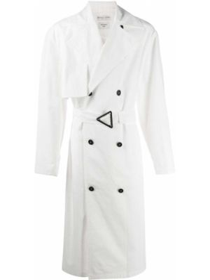 Płaszcz z paskiem bawełniany z długimi rękawami Bottega Veneta