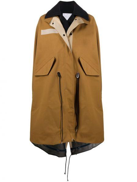 Пальто оверсайз - коричневое Sacai