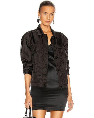 Текстильная черная джинсовая куртка с карманами Rta