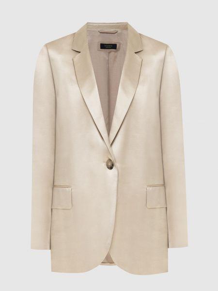 Бежевый пиджак Peserico