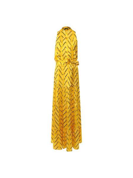 Шелковое платье - желтое Kiton