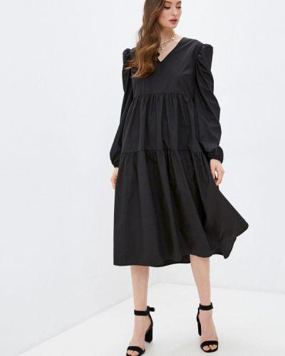 Прямое черное платье А-силуэта Missguided
