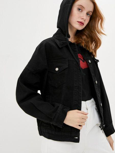 Джинсовая куртка черная весенняя Befree