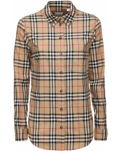 Бежевая рубашка с воротником с манжетами Burberry