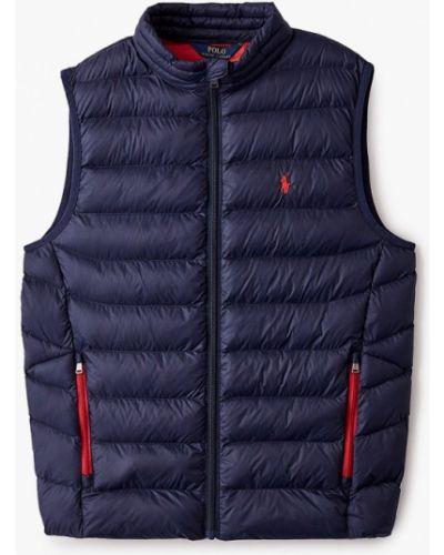 Теплая синяя жилетка Polo Ralph Lauren