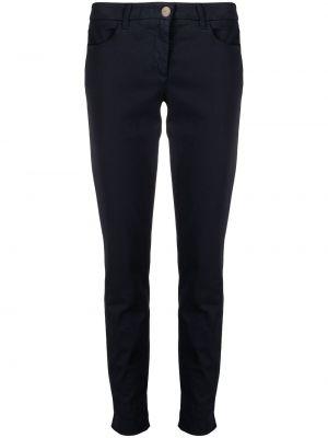 Синие прямые укороченные брюки на молнии Luisa Cerano