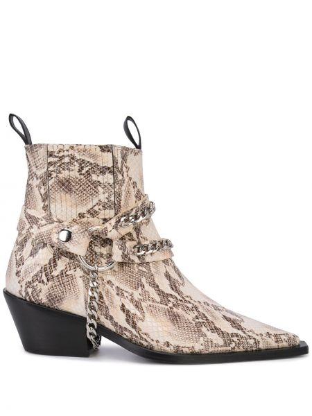 Buty na obcasie na pięcie z ostrym nosem Anine Bing
