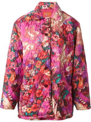 Розовое пальто классическое с воротником с карманами Kenzo Pre-owned