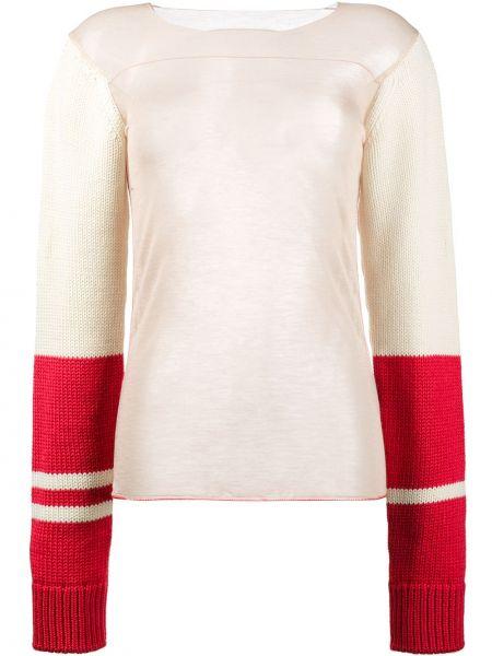 Biały top wełniany Calvin Klein 205w39nyc