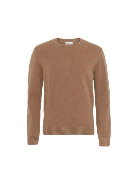 Brązowy klasyczny sweter Colorful Standard