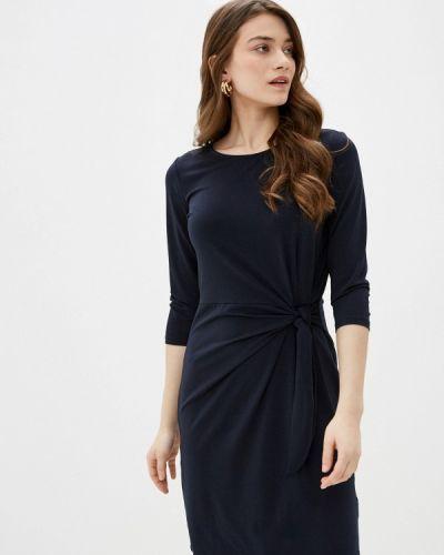 Синее прямое платье Sela