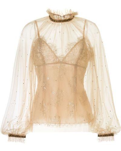 Блузка из фатина Marchesa